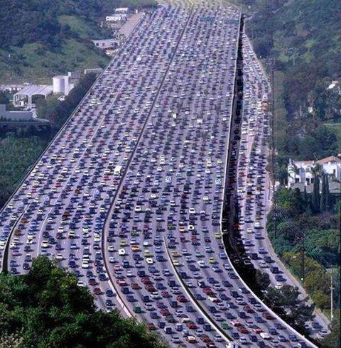 Verkehrschaos mal anders