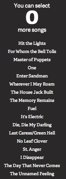 Meine Setlist
