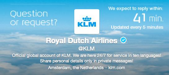 Twitter KLM