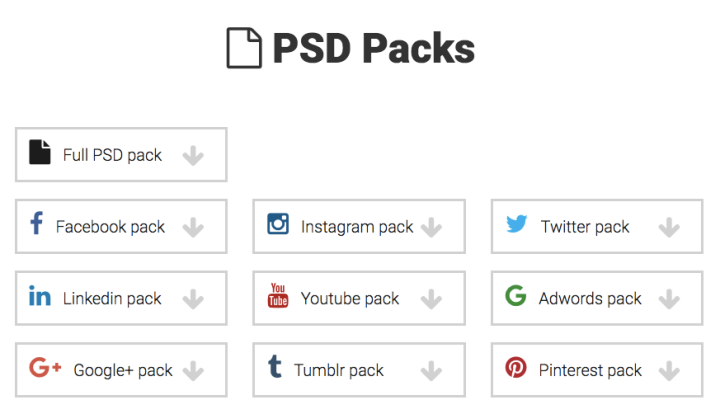 PSD Packs